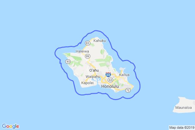 Honolulu County, Hawaii boundary image for MeridianEcon demographic report