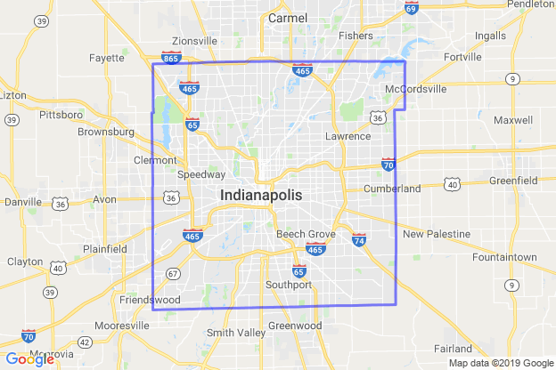 Marion County, Indiana boundary image for MeridianEcon demographic report