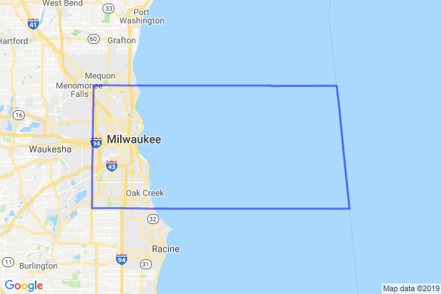 Milwaukee County, Wisconsin boundary image for MeridianEcon demographic report