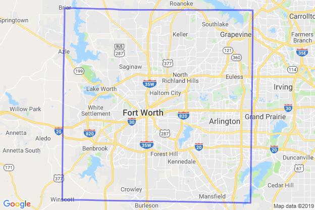 Tarrant County, Texas boundary image for MeridianEcon demographic report